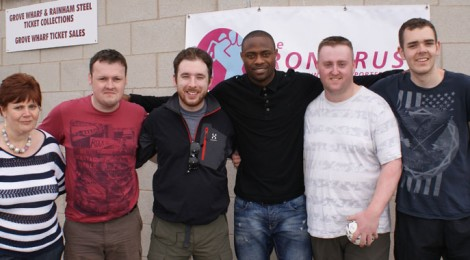 Trust meets Lille charity walkers